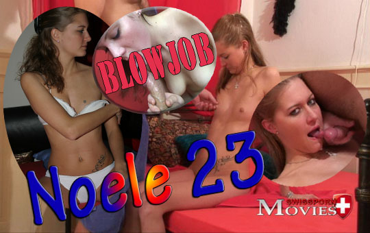 Model Noele 23 at the blowjob casting on porn