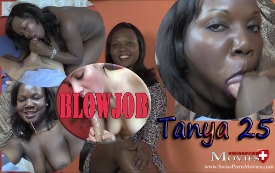 Model Tanya 25 at the blowjob casting on porn