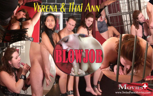Blowjob 02 - With 2 young slaves in the dungeon of lust