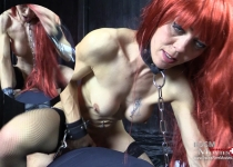 Angelina at first BDSM-Casting