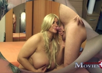 XXXL tits at the blowjob at the porn casting