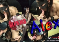 Blowjob 03 - Student Alex tied up while blowing