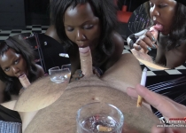 Sweet slave Tanya used pervertedly as a smoker girl