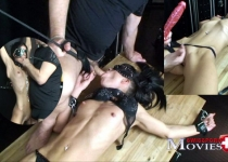 Amanda Jane 18y. in chains - kinky games in the Dark Room